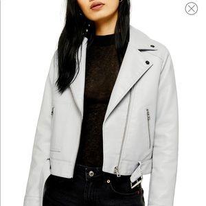 Topshop Kota Faux Leather Moto Jacket